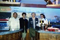 MISTRALBAR  1991   (Foto di Bruno Marino)  I MIEI COLLABORATORI.TUTTA BELLA GENTE!!  SONO PASSATI