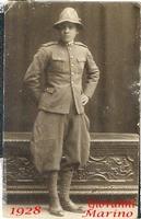 MIO  PADRE  1928       (Foto di Bruno Marino)  MIO PADRE GIOVANE AGENTE GUARDIA DI FINANZA  CONFINE YUGOSLAVO LUOGO IMPRECISATO  - Ragusa (3033 clic)