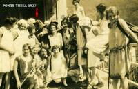 PONTE TRESA 1927  (Foto di Bruno Marino) MIO PADRE GIOV.MARINO DI SERVIZIO AL VALICO DI PONTE TRESA NEL 1927.  - Ragusa (3324 clic)