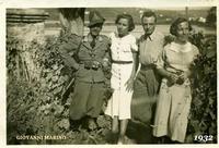 GIOV. MARINO  1932     (Foto di Bruno Marino) Giovanni Marino in servizio in frontiera nel 1932.  Località FOLONA (YU)  (OTTIME LE...COLLEGHE !!)  - Ragusa (3636 clic)