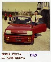 IL PRIMO VIAGGIO DI MORENO CON LA PRIMA AUTO.  MONZA-LIGNANO  1985  - Ragusa (3603 clic)