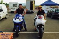 CENTAURI   2001       (Foto di Bruno Marino)  MORENO e FEDERICA  CON I LORO AMORI.     MISANO A. 05/2001   - Ragusa (3260 clic)