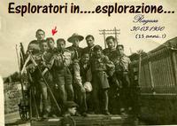 GIOVANI  DURI  1950           (Foto di Bruno Marino) GIOVANI ESPLORATORI 1950    - Ragusa (4345 clic)