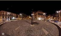Fontana Cellini,dietro Palazzo Di Martino e la Fontana Madonna delle Lacrime, in fondo la Chiesa della Madonna delle Grazie   - Modica (19094 clic)