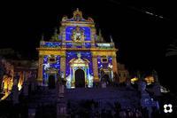 Choco Modica dicembre '13. San Pietro proiezione sulla facciata MODICA Enzo Belluardo