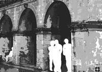 Piazza S. Giovanni, aspettando che finisca la pioggia, per le vie di Modica per  La Piccola Locanda (3200 clic)