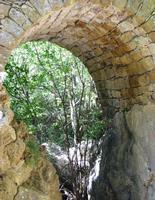 ponte di pietra   - Petralia sottana (1963 clic)