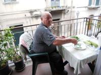 Zio Peppe Milici  a Cassa Sua 2011 È maritato con mia zia Maria Spatola calabrese  - Barcellona pozzo di gotto (4112 clic)