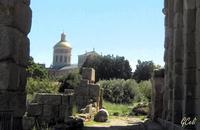 La asilica dall'Area Archeologica   - Tindari (1992 clic)