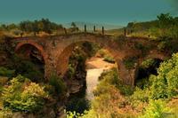 Ponte Normanno Ponte Normanno sul Simeto a qualche Km da Bronte Sicilia. Fatto costruire dal conte Ruggiero nel 1121 in memoria della madre Adelasia.  - Bronte (3257 clic)