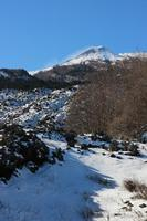 Neve e sciara Incantevole paesaggio innevato del versante est dell'etna  - Etna (720 clic)