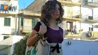 Federica in passerella Gli abiti e gli accessori sono di Filli Cusenza. Foto scattata nel mese di giugno 2013 a Palazzo Butera di Bagheria  - Bagheria (1405 clic)