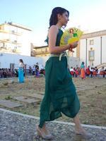 in verde - sfilata ISOLA di Filli Cusenza Un momento della filata di abiti di Filli Cusenza. Foto scattata nel mese di giugno 2013 a Palazzo Butera, Bagheria  - Bagheria (1222 clic)