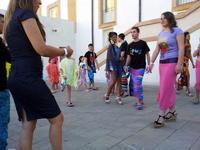 momento finale della sfilata Filli Cusenza La foto è stata scattata a Palazzo Butera a Bagheria durante la sfilata di moda di Filli Cusenza  - Bagheria (1232 clic)