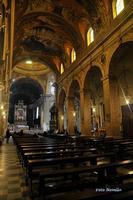 Acireale la Cattedrale interno, navata centrale. (3287 clic)