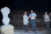 Mario Affannato e Piero Marchetti durante il I° simposium la pietra nell'arte svoltosi a Novara di Sicilia nell'agosto 2004  - Novara di sicilia (5428 clic)