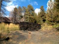 eruzione del 2002,piano Provenzana, fronte lavico   - Etna (3011 clic)