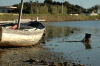 Una barca sulla riva della riserva dello Stagnone  - Stagnone (3929 clic)