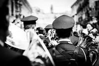 La banda La banda durante i festeggiamenti della Madonna Vasa Vasa, la domenica di Pasqua.  - Modica (1744 clic)