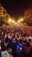 Fiaccolata Almaviva Contro 1700 licenziamenti PALERMO MARCO GIUSEPPE DE GAETANO