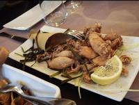 PORNO FOOD Fritto di calamari interi con alghe e limone PALERMO MARCO GIUSEPPE DE GAETANO
