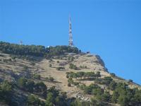 Monte Bonifato - antenna sulla cima - 15 agosto 2012  - Alcamo (303 clic)