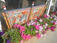 particolare carretto siciliano e vasi fioriti - 24 maggio 2012  - San vito lo capo (603 clic)