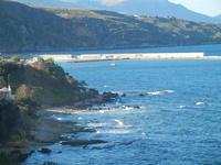 Golfo di Castellammare panorama della costa e del porto dalla periferia est della città - 11 gennaio 2014  - Castellammare del golfo (441 clic)