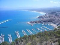 vista su porto, città e golfo dal Belvedere - 27 agosto 2012  - Castellammare del golfo (217 clic)