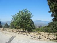 panorama sul Golfo di Castellammare  dal piazzale prospiciente il Santuario della Madonna del Romitello - 9 maggio 2012  - Borgetto (837 clic)