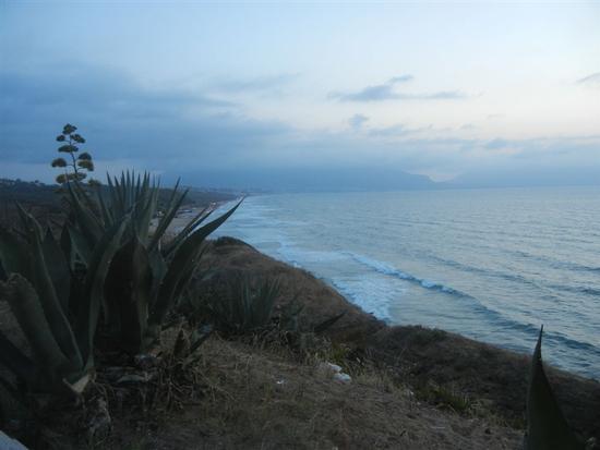 panorama del Golfo di Castellammare a sera - BALESTRATE - inserita il 08-Apr-15