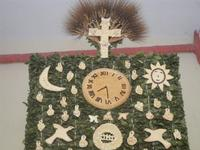 mostra Borgesi di San Giuseppe - altare e pani - particolare - 22 aprile 2012  - Calatafimi segesta (503 clic)