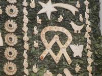 mostra Borgesi di San Giuseppe - altare e pani - particolare - 22 aprile 2012  - Calatafimi segesta (502 clic)