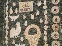mostra Borgesi di San Giuseppe - altare e pani - particolare - 22 aprile 2012  - Calatafimi segesta (467 clic)