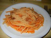 bucatini con le sarde - La Vecchia Conza - 6 settembre 2012  - Sciacca (737 clic)
