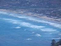 Spiaggia Plaja e mare mosso dal Belvedere - 27 agosto 2012  - Castellammare del golfo (284 clic)