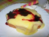 Waffel Bavarese - crema arancia, variegato amarena - La Piazzetta - 22 giugno 2012  - Balestrate (908 clic)
