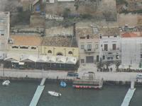 panorama dal Belvedere - scorcio della città: locali sul porto - 22 gennaio 2012  - Castellammare del golfo (397 clic)