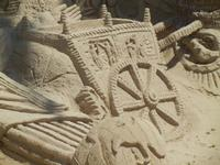 castelli di sabbia - sculture sulla sabbia di Iannini Antonio, scultore napoletano sanvitese - 18 agosto 2012  - San vito lo capo (238 clic)
