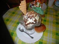 coppa gelato - con gelato alla nocciola e al ciocclato - La Piazzetta - 16 agosto 2012  - Balestrate (572 clic)