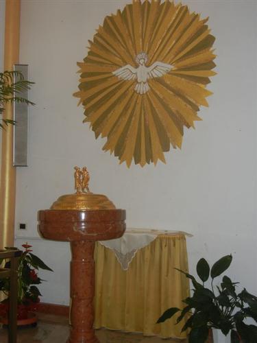 Santuario Madonna del Romitello - fonte battesimale - BORGETTO - inserita il 13-Nov-14