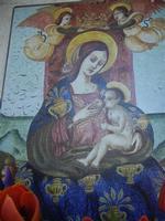 Maria SS. di Custonaci realizzata su pietra lavica maiolicata - 25 aprile 2012  - Erice (623 clic)