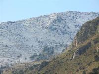 la neve sui monti - 14 febbraio 2012  - Castellammare del golfo (429 clic)