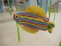 acquario realizzato con materiale riciclato presso la Scuola Primaria Luigi Pirandello - 20 maggio 2012  - Alcamo (300 clic)