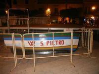 barca e palco in Piazza F. Rettore Evola - 3 luglio 2012  - Balestrate (827 clic)