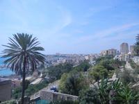 giardino e città - panorama da Piazza Angelo Scandaliato - 6 settembre 2012  - Sciacca (382 clic)