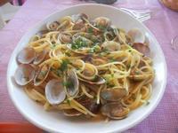 spaghetti alle vongole - Frutti di Mare da Giovanni - 26 agosto 2012  - Balestrate (660 clic)