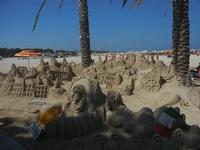 castelli di sabbia - sculture sulla sabbia di Iannini Antonio, scultore napoletano sanvitese - 18 agosto 2012  - San vito lo capo (211 clic)