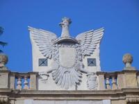 Aquila - stemma su Porta Garibaldi - centro storico - 9 settembre 2012  - Marsala (518 clic)