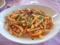 casarecce con pesce spada e melanzane - Frutti di Mare da Giovanni - 26 agosto 2012  - Balestrate (831 clic)